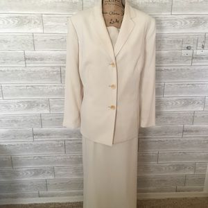 Le Suit Ivory 3-piece: jacket, skirt & shell